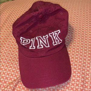 Maroon Pink Victoria's Secret Hat